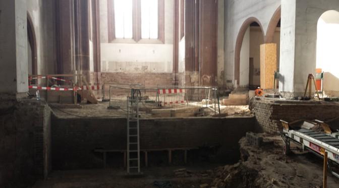 Ein Besuch der Grabungen in der  Johanniskirche Mainz
